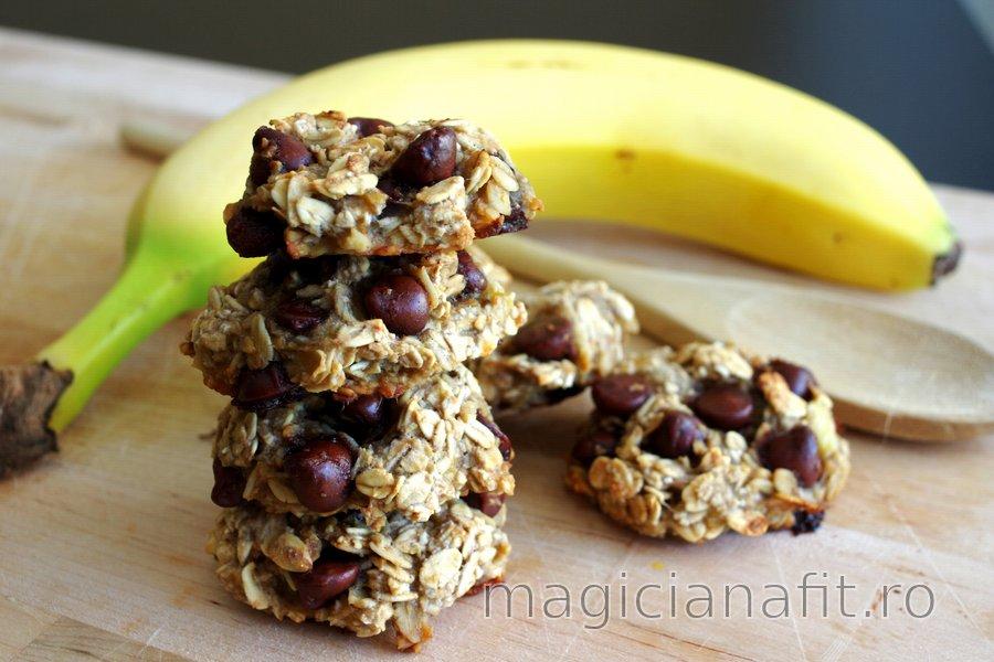 Prăjiturele din 3 ingrediente cu banane şi ovăz – fără făină, zahăr şi ou