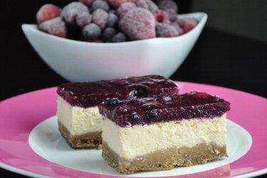 Prăjitură dietetică tip cheesecake cu iaurt  (fără gluten, fără zahăr)