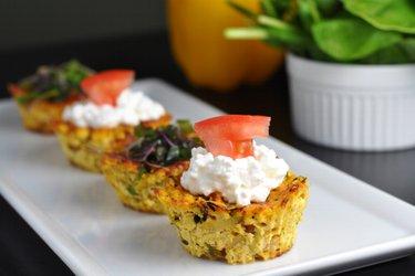 Brioșe sănătoase cu tofu (sărate, fără gluten, fără ou)