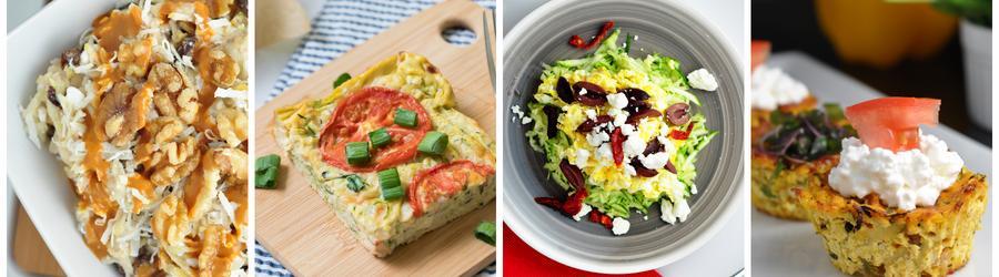 Rețete sănătoase cu zucchini pentru micul dejun