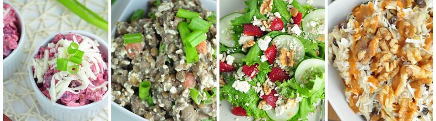 Rețete de salate cu puține calorii pentru cura de slăbire