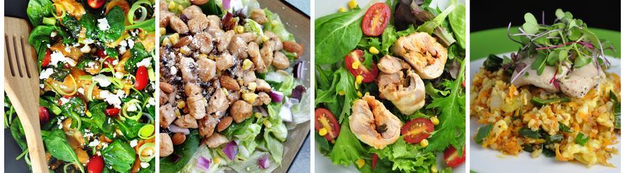 Salate sănătoase cu pui